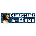 Pennsylvania for Clinton bumper sticker