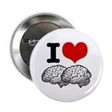I Love Brains Button