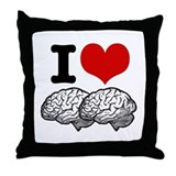 I Love Brains Throw Pillow