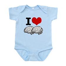 I Love Brains Infant Bodysuit