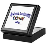 My Autistic Grandchildren Love Me Keepsake Box