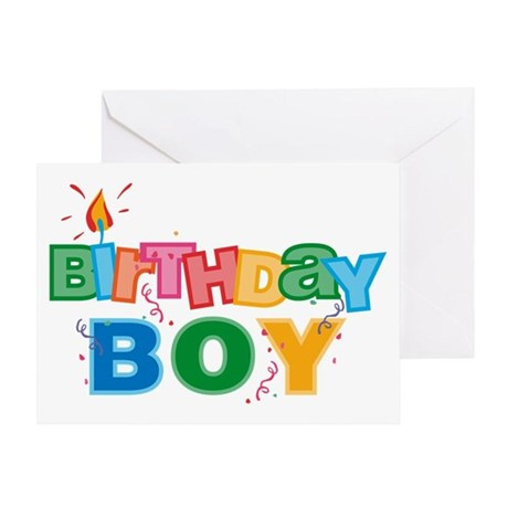 Birthday Boy Letters Greeting Card