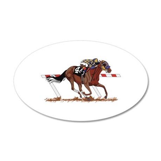 Jockey on Racehorse Wall Decal