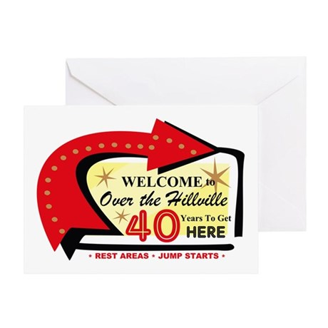 Over the Hillville 40 Greeting Card
