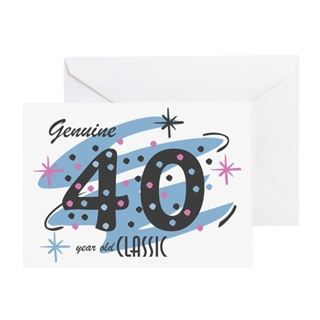 Classic 40 Confetti Greeting Card