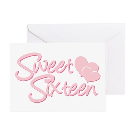 Sweet sixteen Heart Greeting Card