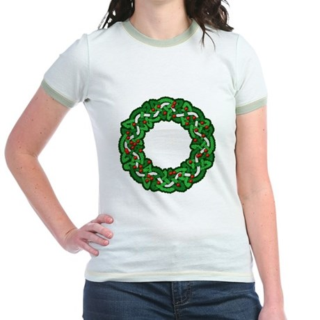 Celtic Wreath Jr. Ringer T-Shirt