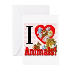 I Love Animals Greeting Cards (Pk of 20)