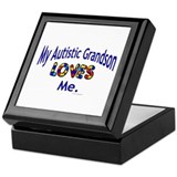 My Autistic Grandson Loves Me Keepsake Box