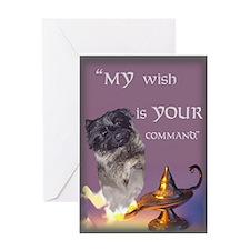 Djinn Fizz Cairn Terrier Greeting Card