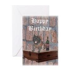 Indlulgent Cairn Terrier Monk Birthday Card