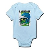 Lacrosse Helmet (Blue) Infant Creeper