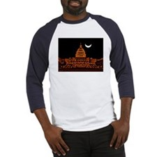 Moonrise Over DC Baseball Jersey