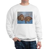 Sussex Spaniel Puppies Painti Sweatshirt