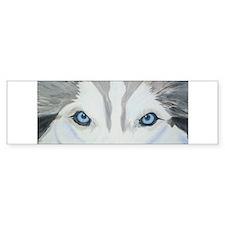 Siberian Husky Blue Eyes Pain Bumper Bumper Sticker