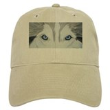 Siberian Husky Blue Eyes Pain Baseball Cap