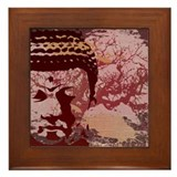 Tree Buddha Framed Tile