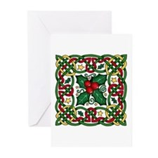 Celtic Garland Holly Greeting Cards (Pk of 20)
