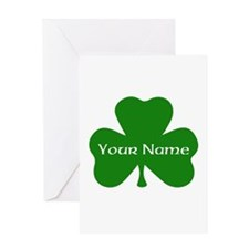CUSTOM Shamrock with Your Name Greeting Cards