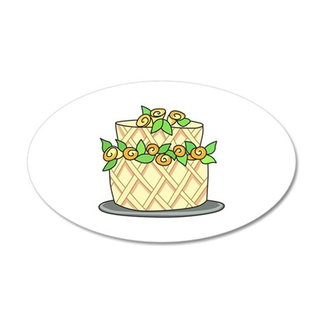 CAKE WITH FLOWERS Wall Decal