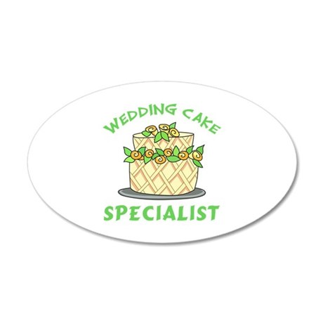 WEDDING CAKE SPECIALIST Wall Decal