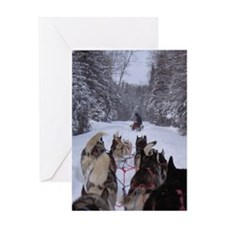 MCK Racing Siberians Greeting Card
