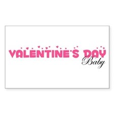 Valentine's Day Baby Rectangle Decal