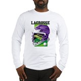 Lacrosse Helmet (Purple) Long Sleeve T-Shirt