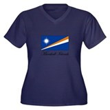 Marshall Islands - Flag Women's Plus Size V-Neck D