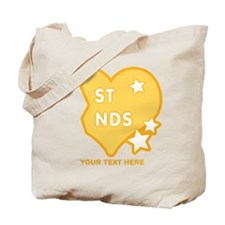 CUSTOM TEXT Best Friends (right half) Tote Bag