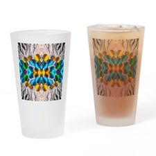 Glowing Glass Beaded Design Drinking Glass