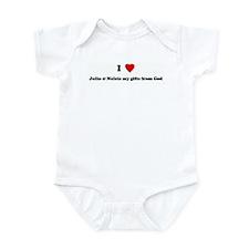 I Love Julio & Nelcie my gift Infant Bodysuit
