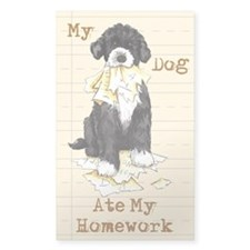 PWD Ate Homework Rectangle Decal