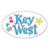 Key West Flip Flops - Oval Decal