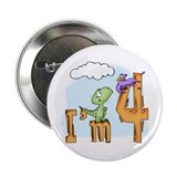 "Dinosaur Fun 4th Birthday 2.25"" Button (10 pack)"