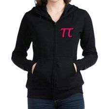 Pi Symbol - Raspberry Color Women's Zip Hoodie