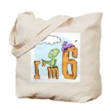 Dinosaur Fun 6th Birthday Tote Bag