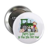 Farm Livin' (Girl) 2.25&quot; Button (10 pack)