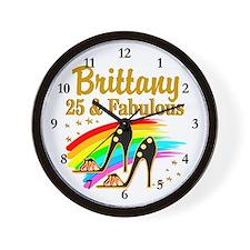 FASHIONABLE 25TH Wall Clock