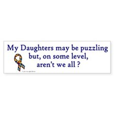 Puzzling (Daughters) Bumper Bumper Sticker