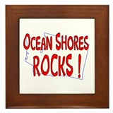 Ocean Shores Rocks ! Framed Tile