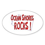 Ocean Shores Rocks ! Oval Decal