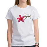 Red Frangipani flower Tee