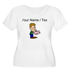Piggy Bank (Custom) Plus Size T-Shirt