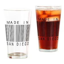 San Diego Barcode Drinking Glass