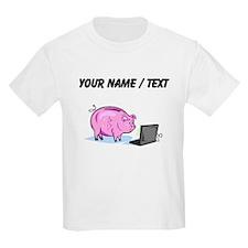 Piggy Bank And Laptop (Custom) T-Shirt