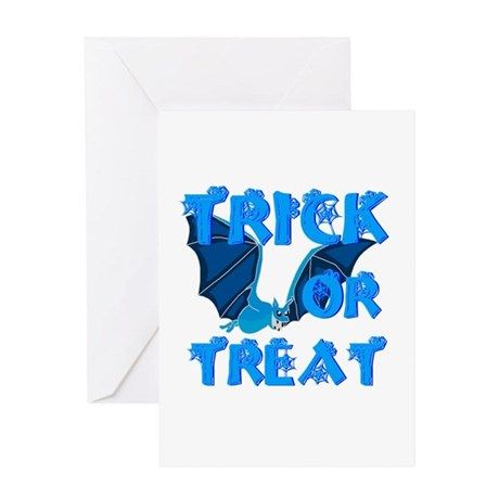 Trick or Treat Bat Greeting Card