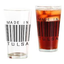 Tulsa Barcode Drinking Glass