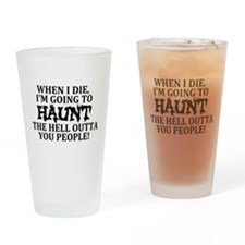 Haunt You Drinking Glass
