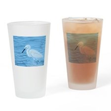 Great White Egret Drinking Glass